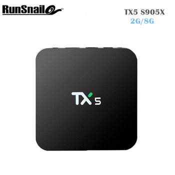TX5 Android 6.0 Amlogic S905X Quad Core Set Top Box 2 г/8 г Android ТВ Box HDMI H.265 WI-FI Media Player Smart TV Box