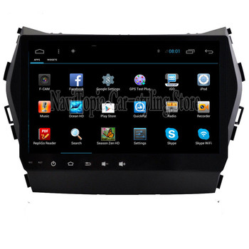 Navitopia 9 дюймов 1024*600 Quad Core Android 4.4/Android 6.0 автомобилей Радио Видео для Hyundai IX45 santafa, без DVD/CD-плеер