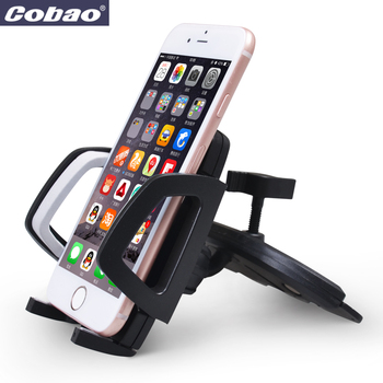 Cobao Universal Car CD Slot To Install Mobile Phone Stand Car Holder 360 Degree Rotation For iPhone 3G/3GS 5s 6s 7 Plus Huawei